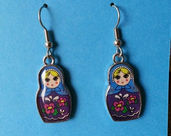 Nesting Doll Charm Dangle Earrings - Low Shipping!  Only Pay Shipping on First Item in US