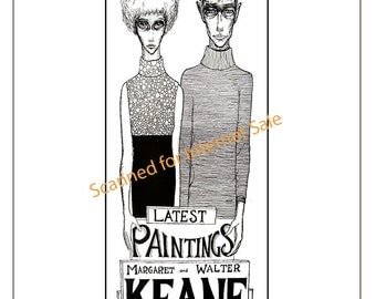Big Eyes 1962 Walter + Margaret Keane NEW YORK Flyer Advertisment