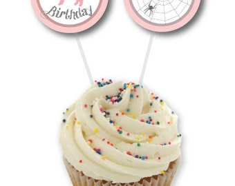 Printable Birthday Cupcake Toppers/Circle Tags - Charlotte's Web Party