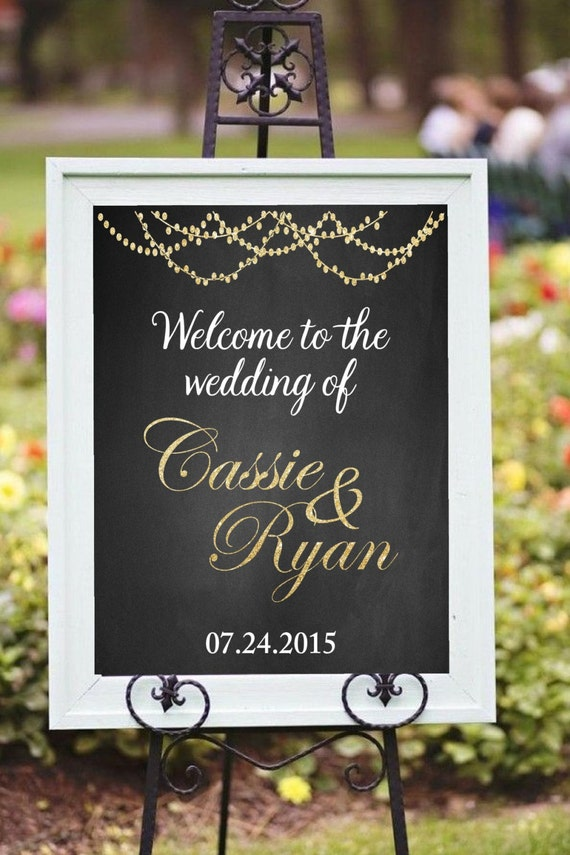 Printable Welcome Wedding Sign DIY Printable Welcome To The