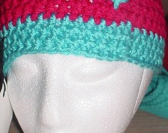 Cute Beanie Crochet Beanie Caterpillar Beanie Crochet Caterpillar Pink Beanie