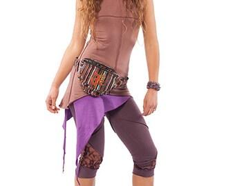 PURPLE PIXIE SKIRT, organic cotton psy trance skirt, psy clothing, psy skirt, asymmetric skirt, purple pixie clothing, pixie fairy skirt
