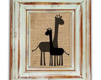 Baby Giraffe Nursery Decor / Baby Giraffe Print / Nursery Decor / Mom and Baby Giraffe / Baby Giraffe Nursery / Nursery Art / Safari Nursery