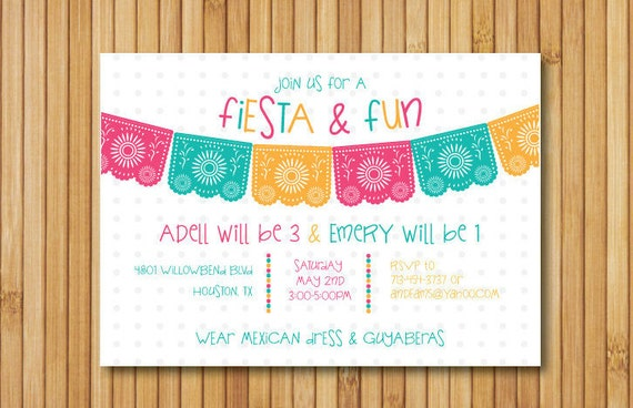 fiesta birthday invitation cinco de mayo invitation fiesta, Birthday invitations