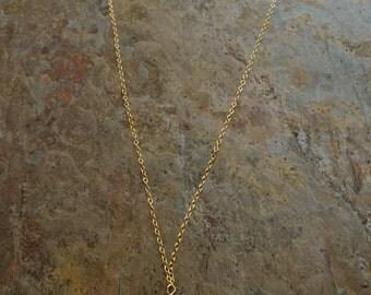 Turquoise gemstone gold  necklace