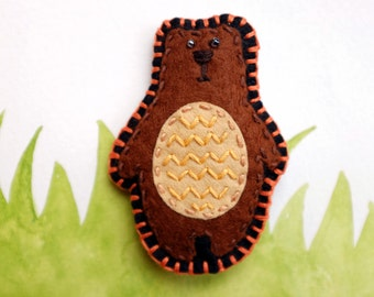 Felt Fridge Magnet (Bear)