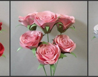 Valentines day Paper roses set of 12
