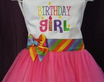 Birthday Girl Party Tutu Apron