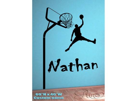 Najarian Nba Youth Bedroom In A Box: Wall Art Custom Large Basketball Player Choose By
