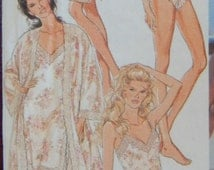 Lingerie Sewing Pattern/Robe, Camisole, French Knickers, Teddy, Half And Full Slip/ Style 2254/ Misses' Size 6-8-10-12-14-16/Peignoir/ Uncut