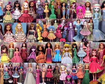 printable doll clothes mega pack fits barbie ever after high monster high and