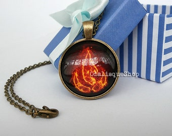 Avatar the Last Airbender Necklace Fire Nation pendant keyring jewelry cb35