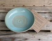 Reserved for Loran - Stoneware Garlic Grating Bowl - Garlic Grater - Hostess Gift