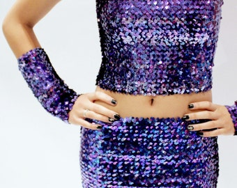 Long Sequins Tube Top or Skirt