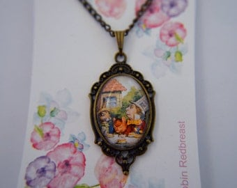 Alice in Wonderland, Tea Party, March Hare, Mad Hatter, Dormouse necklace