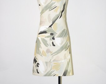 canvas chef apron / artistic brush apron / graphic full bib apron / handmade kitchen apron