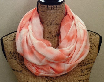 Women's Light Weight Spring Scarves, Womens Summer Infinity Scarves, Tie Dye Circle Scarves, Womes Bridal Shower Favors, Uptown Girl Co