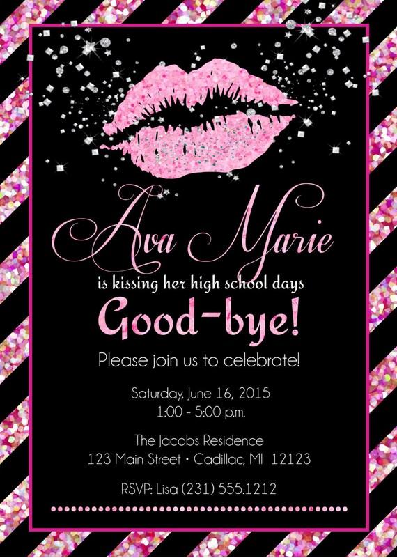 Lips graduation invitation senior graduation invitation girls il570xn filmwisefo