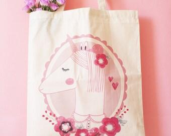 Tote bag : Pink Unicorn