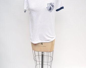 vintage tshirt us COAST GUARD academy WINDJAMMERS t-shirt 1980s thin