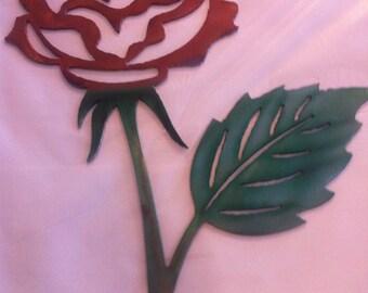 Metal Wall Rose Metal Wall Flower  Metal Dyed Rose Wall Flower Metal Wall Rose