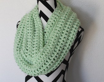 Mint Green Infinity Scarf