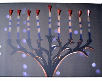 Tree of Life Menorah, Judaica Home Decor, Judaica Wall Art, Chanukiah Art, Hanukkah Decor, Hanukkah Art, Menorah Photograph, Jewish Art