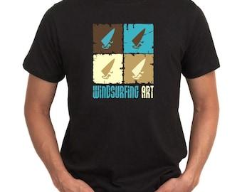 Windsurfing Art T-Shirt