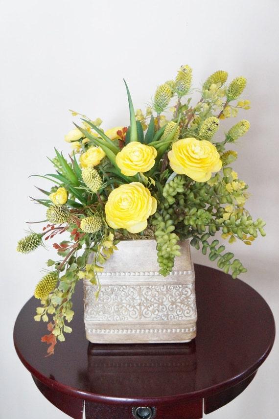 composition florale plantes grasses succulentes. Black Bedroom Furniture Sets. Home Design Ideas
