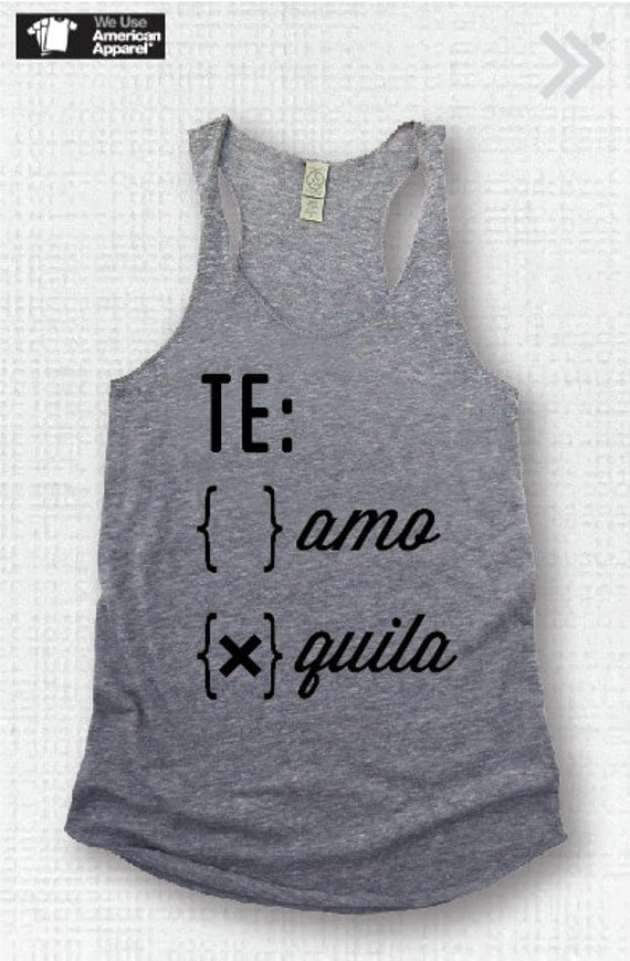 Top seller te amo or quila funny tank yoga shirt gym by for La fitness t shirt