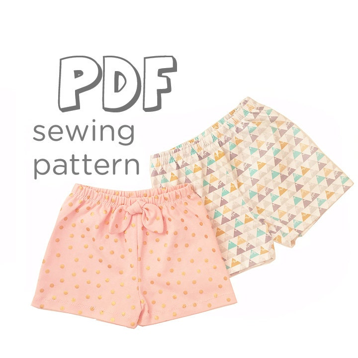 Crafty image in printable shorts pattern