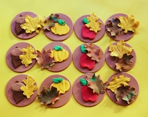 Edible Cake Images Thanksgiving : Popular items for edible maple leaf on Etsy