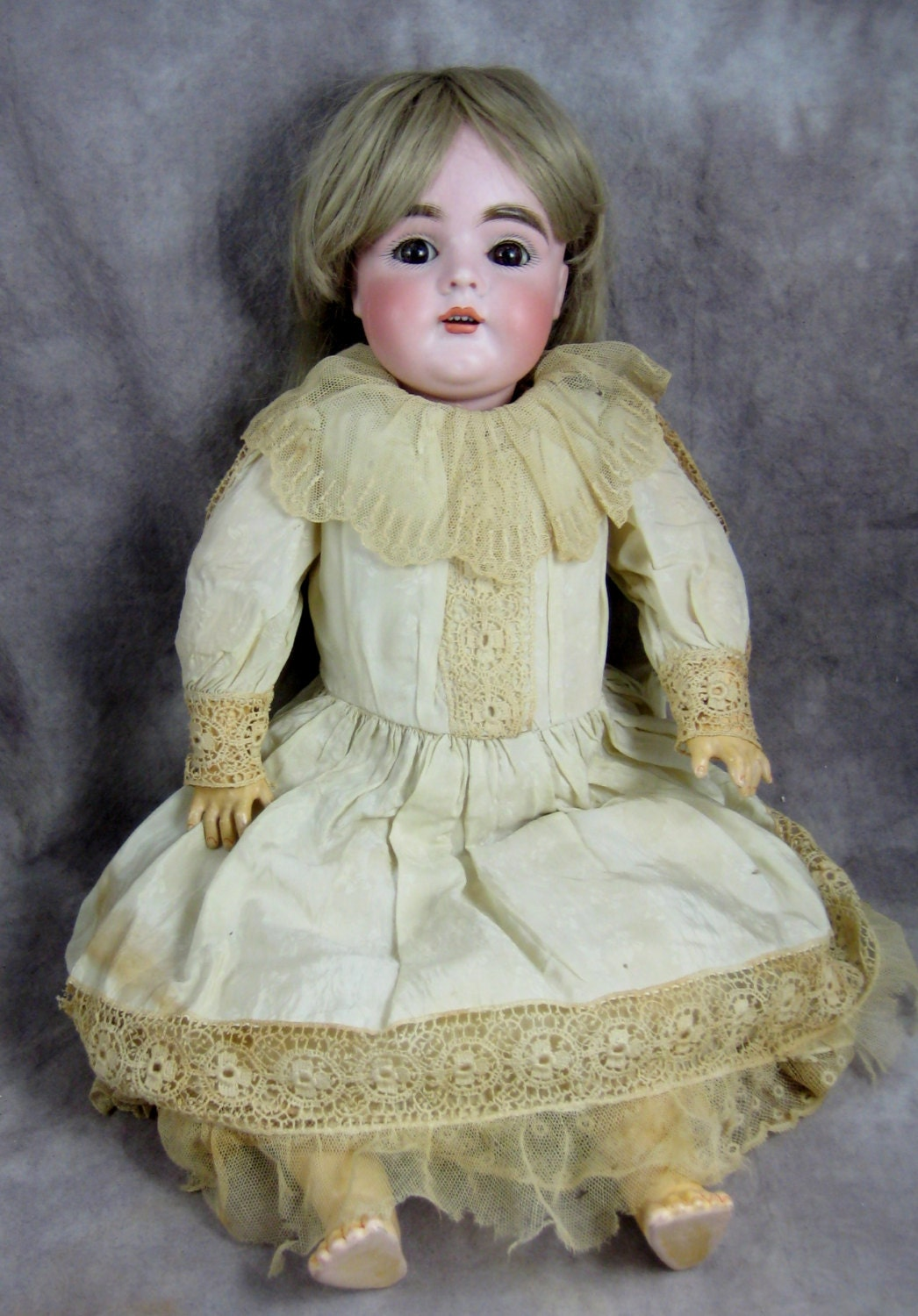 1892 Kestner Germany Doll 19 Original Clothing Bisque