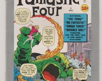Marvel Milestone Edition: Fantastic Four 1 Copper Age Comic Book.  VF+.  1991.  Marvel Comics