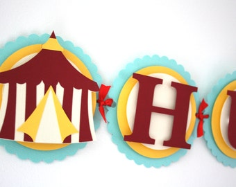 Circus Themed Banner Under The Big Top Banner Carnival Theme Party Decorations Circus Tent and Stars Banner