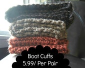 Boot Cuffs With Many Colors Available