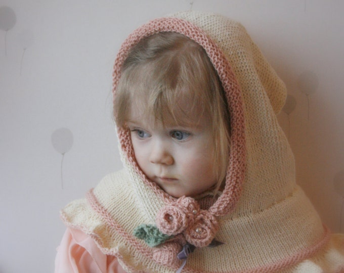 KNITTING PATTERN hooded cowl Vivian (baby, toddler, child, adult sizes)