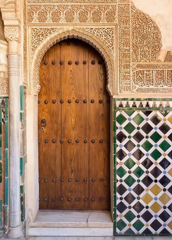 Porte alhambra grenade carrelage espagnol palais - Portes en granada ...