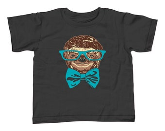 Nerdy Sloth Kids T-Shirt - Youth and Toddler Sizes - 2T-Youth Large