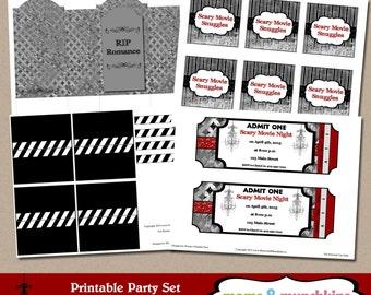Scary Movie Date Night Printables