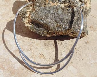 Sergio ~ 980 Silver Cuff / Collar / Choker Necklace ~ 55 Grams