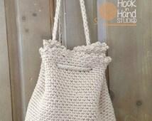 Handmade Crochet backpack - Backpack for Women - Women Accessories - Handmade Backpack - Crochet Bag - Beige Crochet Backpack -