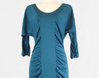 Vintage 90s Catherine Malandrino Bodycon Dress 100% Wool