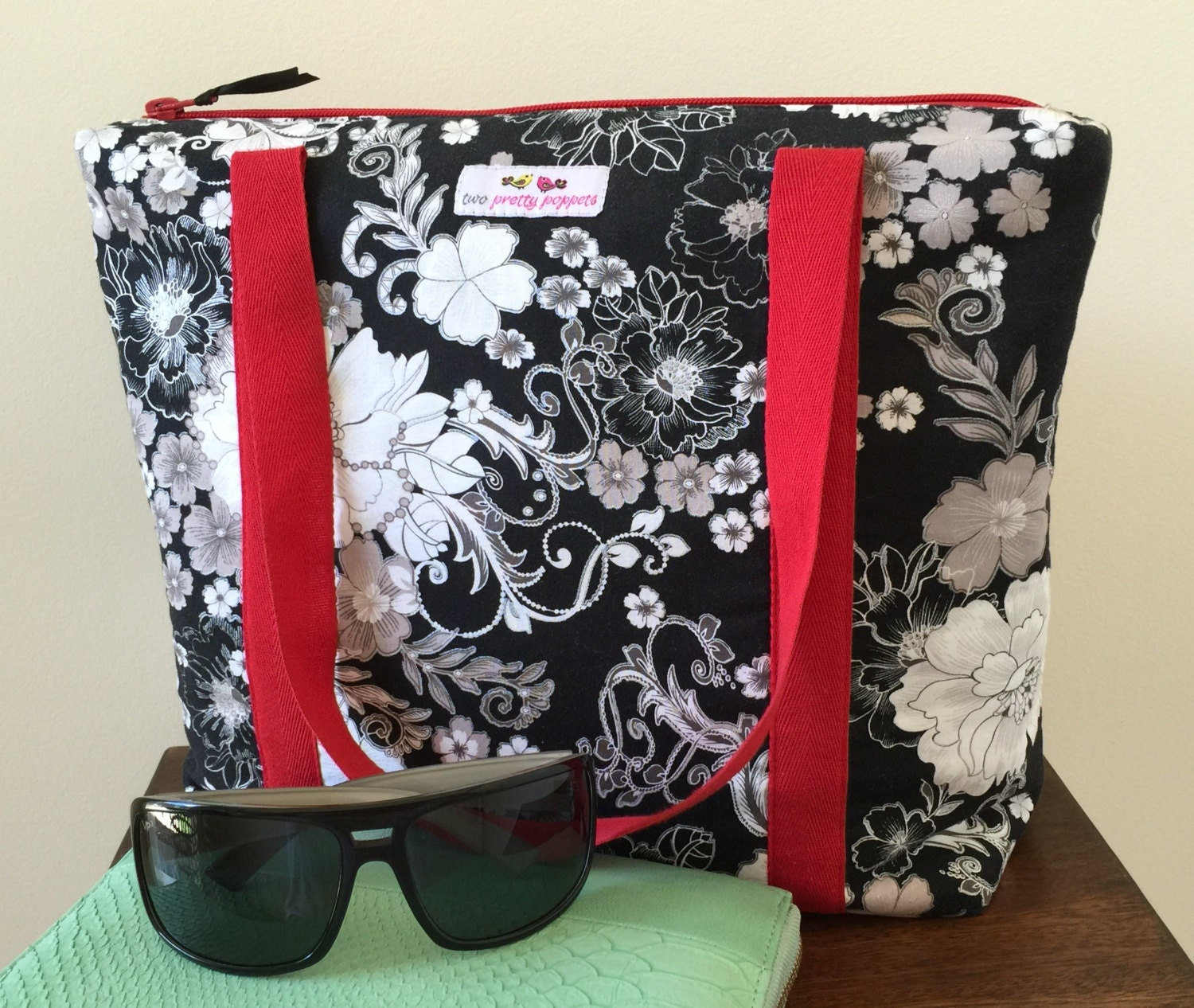 Insulated Lunch Bag Ladies Lunch Bag Large By Twoprettypoppets