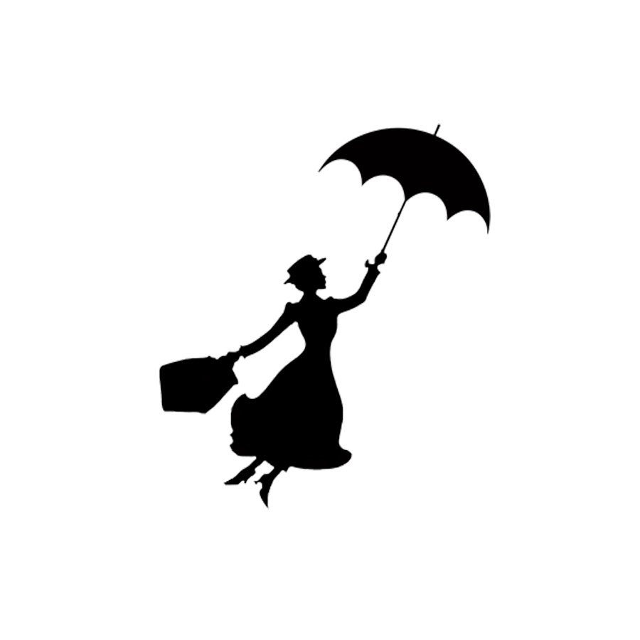 Mary Poppins Silhouette Stamp Birthday Diy By Stampitworldwide