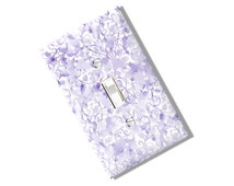 Lavender Flower Light Switch Cover Plate Outlet Watercolor Kitchen Dining Home Decor Houseware Nursery Shabby Baby