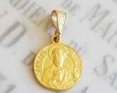 Medal - St Paul - 18K Gold Vermeil - 14.5mm
