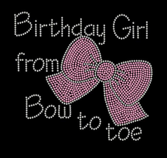 Rhinestone Transfer Birthday Girl Rhinestone By