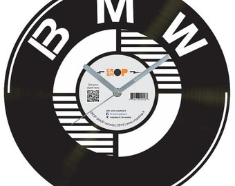 BMW vinyl clock