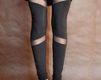 Black leggins, tulle and fabric, all sizes! Elegant GOTHIC VAMPIRE Victorian Burlesque Glamour  black lace, goth, everyday